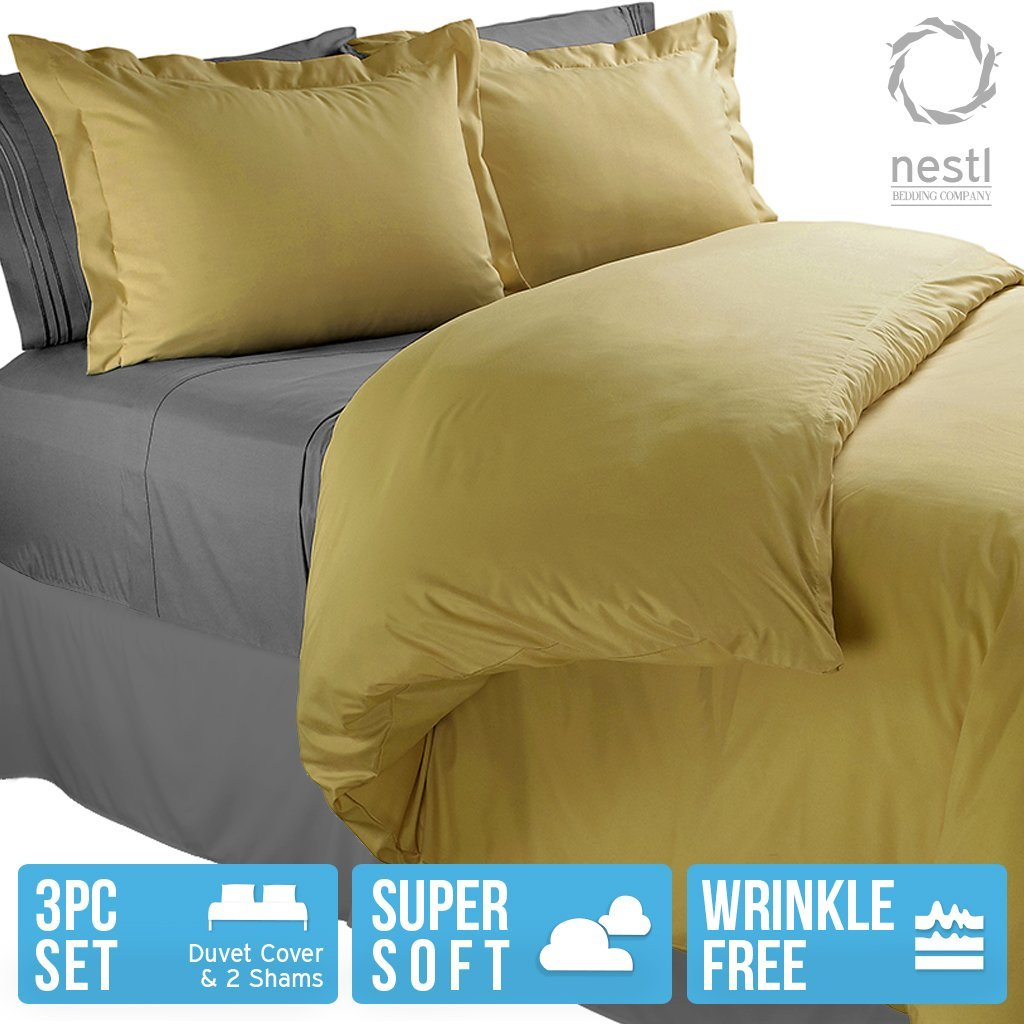 Nestl Bedding Duvet Cover, Protects and Covers your Comforter / Duvet Insert