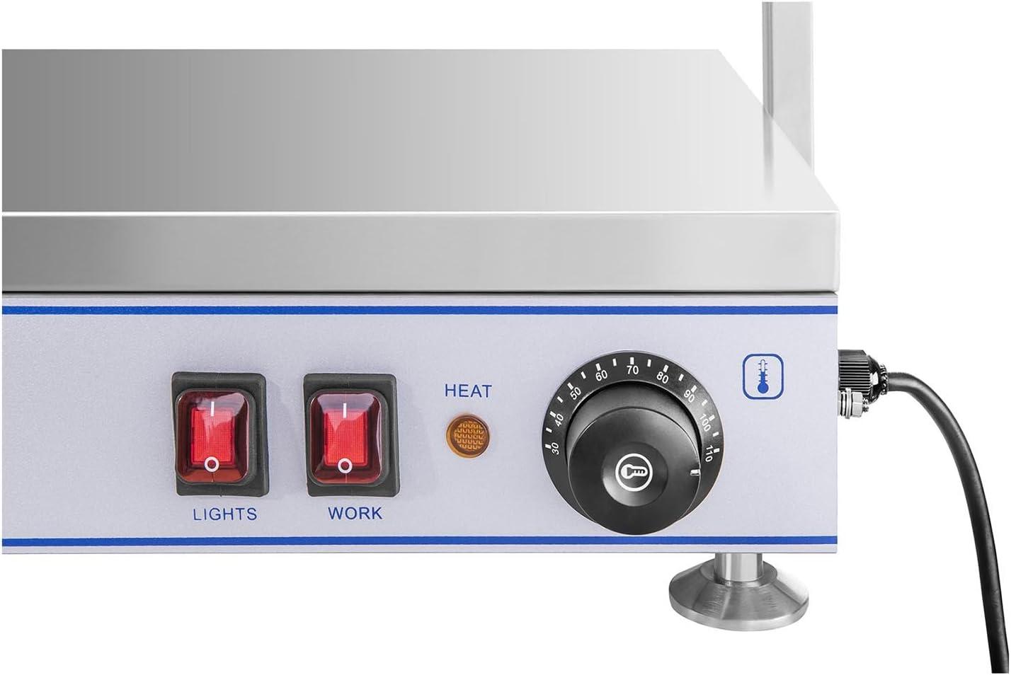 Warmhalteplatte Speisenwärmer Wärmetheke Buffetwärmer 2000 W 4 Halogenlampen