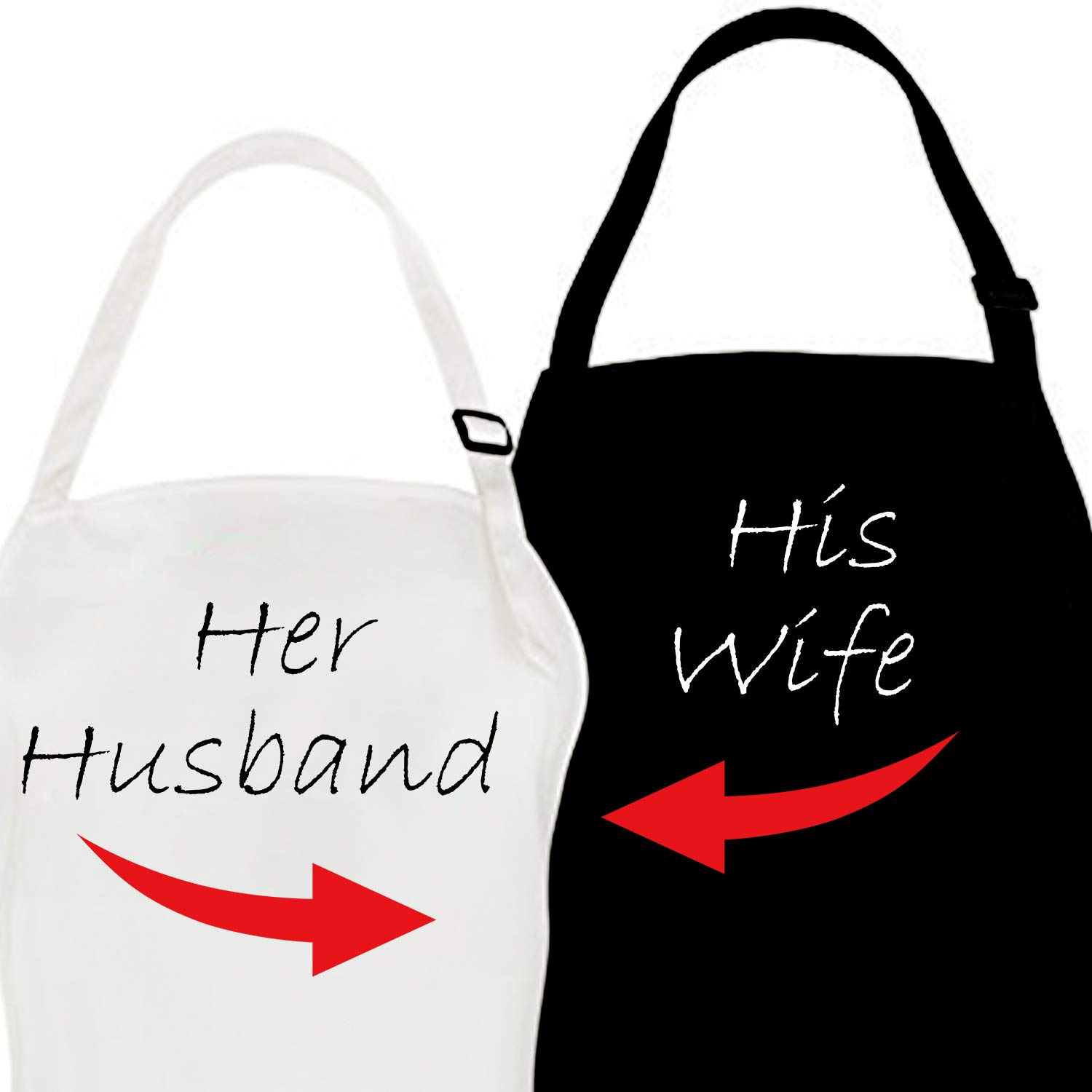 LBG Products Couple Baking Cooking Aprons for Men Women,with Wife & Husband Kitchen Apron Bibs,Romantic Couplers Gift for Valentine's Day,His Hers Anniversary, Engagement,Wedding