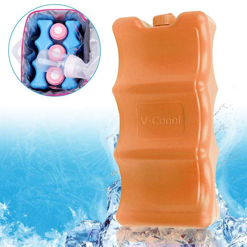 600 ml TEEPAO Doble Cara Gran Capacidad Resina de pol/ímero Absorbente Bolsa enfriadora HDPE para Hielo