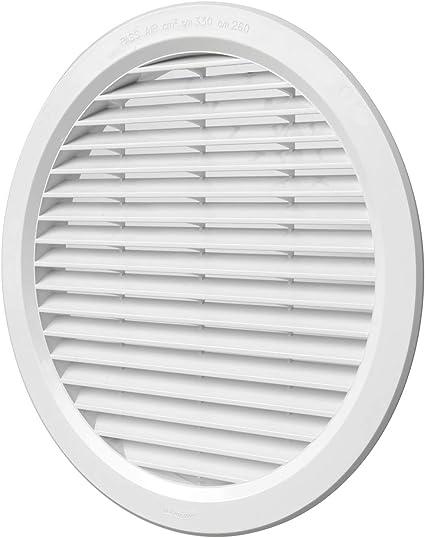 con cursore scorrevole diametro 125 mm griglia di chiusura Griglia di ventilazione bianca zanzariera in plastica ABS 190 x 190 mm