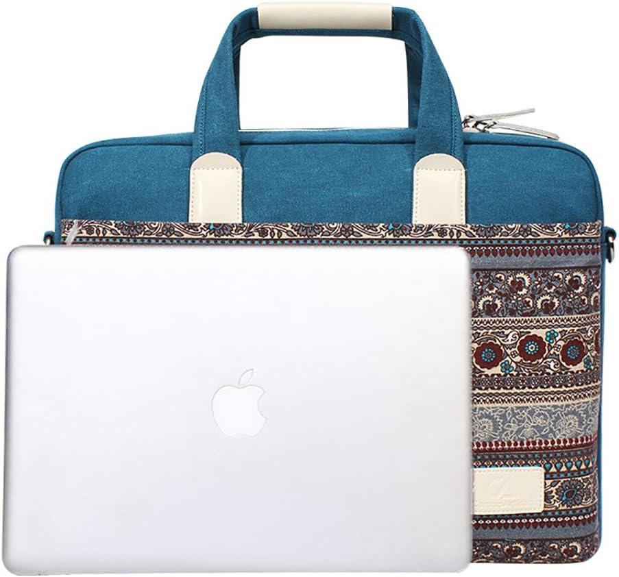 MacBook Pro da 13.3 Custodia Protettiva per Portatile MacBook Air Chromebook Feisman Borsa per Portatile 13.3 pollici con tracolla Tablet Blu Libro di Superficie