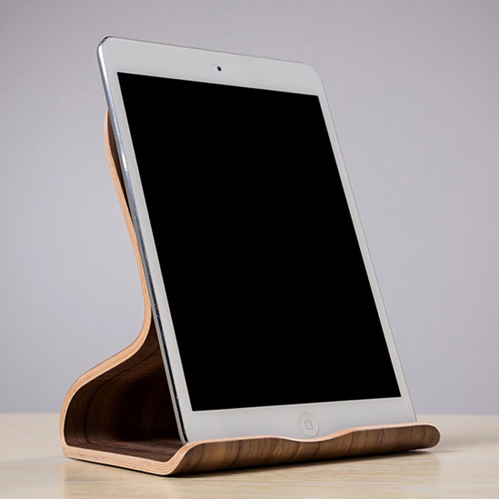 SAMDI 木製タブレット 木製タブレットPC スタンド カバノキ 天然木 Apple iPad Mini Air 2 3 4 iPhone 6 Samsung 10.1 Galaxy S5 S4 Lenovo LG Google Nexus PAD【並行輸入品】