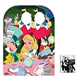 Fan Pack - Alice in Wonderland Mad Hatter's Tea Party Child Size Stand-in Cardboard Cutout / Standup - Includes 8x10 Star Photo
