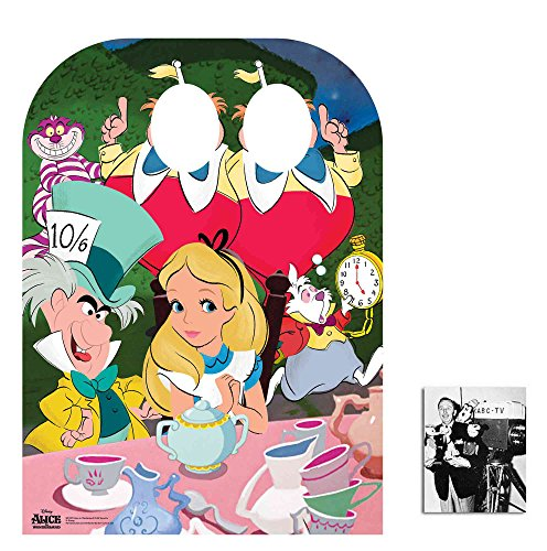 Fan Pack - Alice in Wonderland Mad Hatter's Tea Party Child Size Stand-in Cardboard Cutout / Standup - Includes 8x10 Star Photo (Alice Furniture)