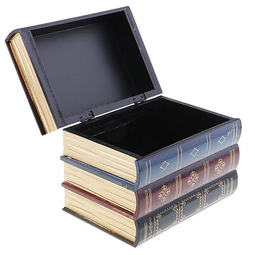 sharprepublic Tipo De Libro Antiguo Caja De Madera del Gabinete De ...