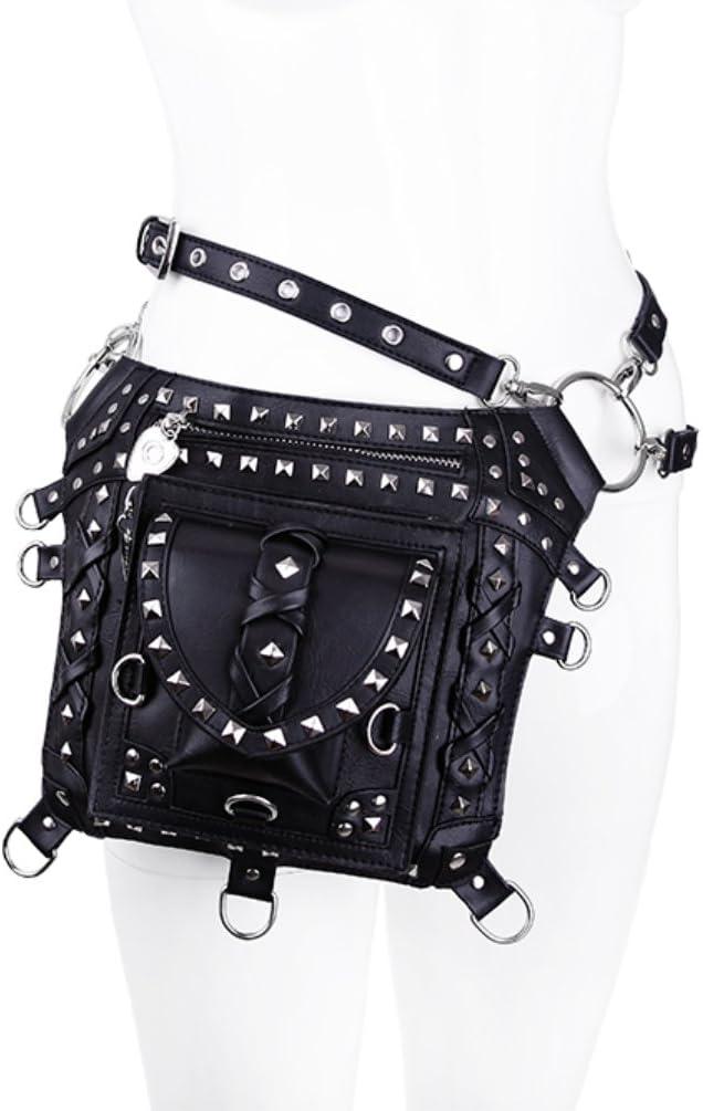 Restyle Black Studded Punk Holster Bag