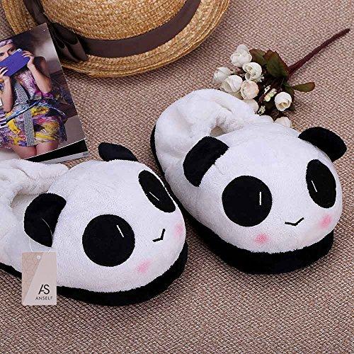 Panda Novità Animati Termici Pantofole 10 Della Famiglia Dei One Color 26cm In Caldo Anself 24 Per Viso Gli Scarpe Belle Indoor Morbido Cartoni Inverno Amanti Peluche Pantofola Ap6fq
