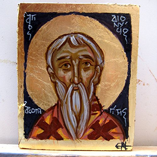 St Dionysius the Areopagite carry on icon hand painted orthodox saint of Athens