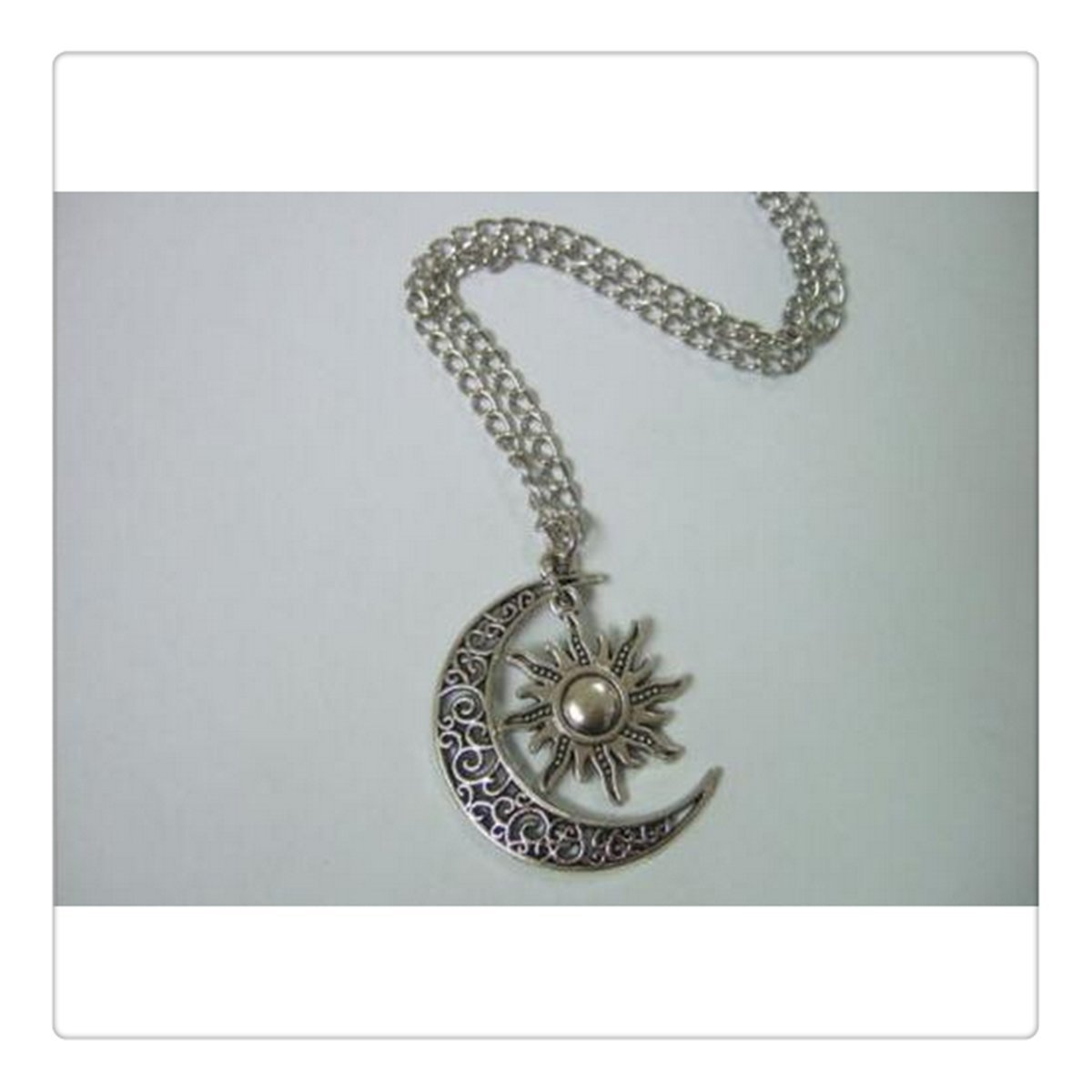 Moon and Sun Necklace Moon Necklace Sun Pendant Necklace BFF Graduation Gift (1)