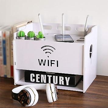 WiFi Router Set Top Box Caja de Almacenamiento Zócalo Cable de alimentación Caja de Acabado Dispositivo Multimedia Estante de Almacenamiento Estante de Pantalla Multifuncional Montable en Pared: Amazon.es: Electrónica