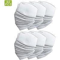 XIAOBAIK 60 unidades: papel de filtro de carbón activado PM2.5 reemplazable, con 5 capas precisas.