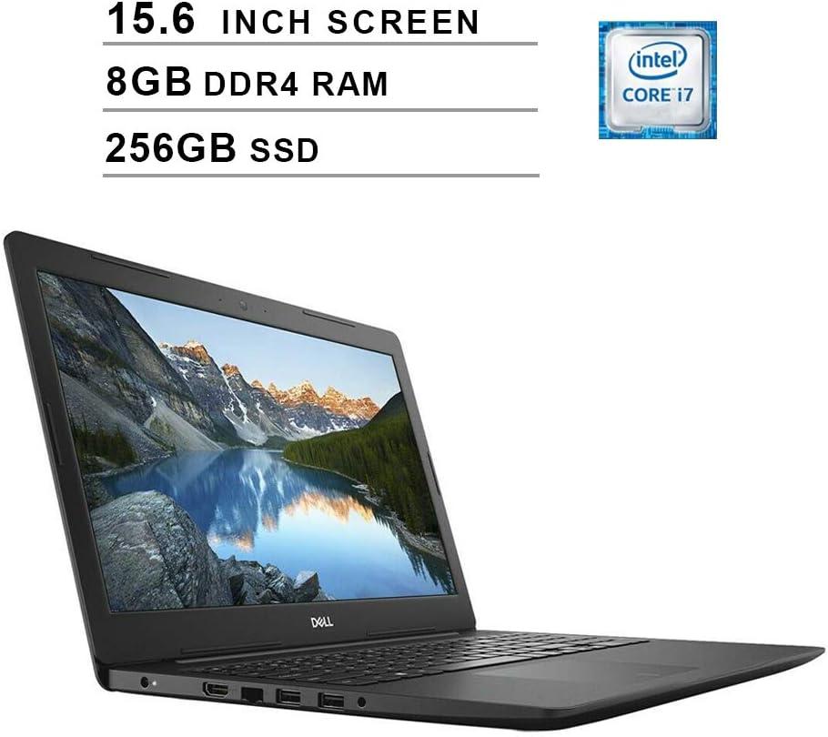 Dell Inspiron 15 5000 Newest 15.6 Inch FHD 1080P Premium Laptop - Intel Core i7-7500U up to 3.5 GHz, Intel HD 620, 8GB DDR4 RAM, 256GB PCIe SSD, WiFi, Bluetooth, HDMI, Windows 10 Home