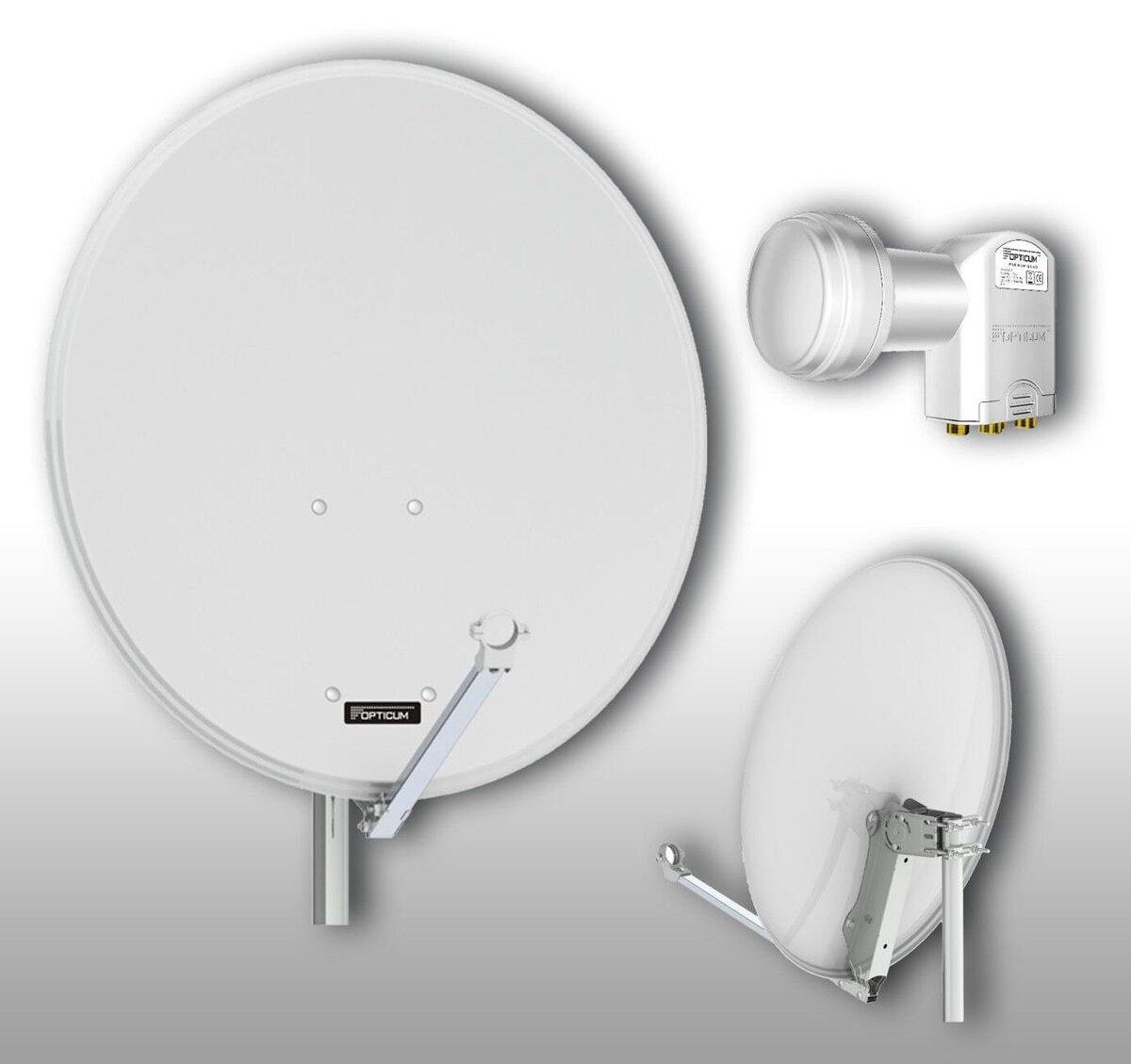 Antracite Opticum QA80 Antenna satellitare in alluminio con Twin LNB