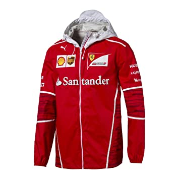 0b254ff679c 2017 Official Scuderia Ferrari F1 Formula One Team Mens Jacket Coat by Puma:  Amazon.co.uk: Sports & Outdoors