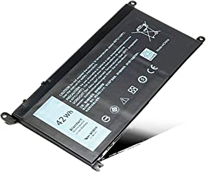 WDXOR New Laptop Battery for Dell Inspiron 13 5368 5378 7368 7378; Inspiron 14-7460 15 5565 5567 5568 5578 7560 7570 7579 7569 17 5765 5767; fit T2JX4 3CRH3 FC92N CYMGM Notebook