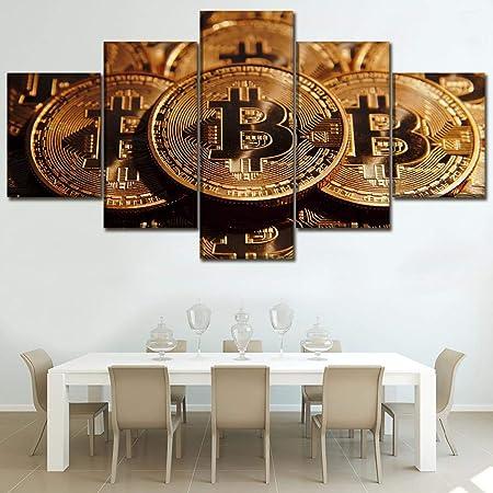 MSDEWLH 5 Lienzo Casa Cartel Decorativo Obra De Arte Moneda ...