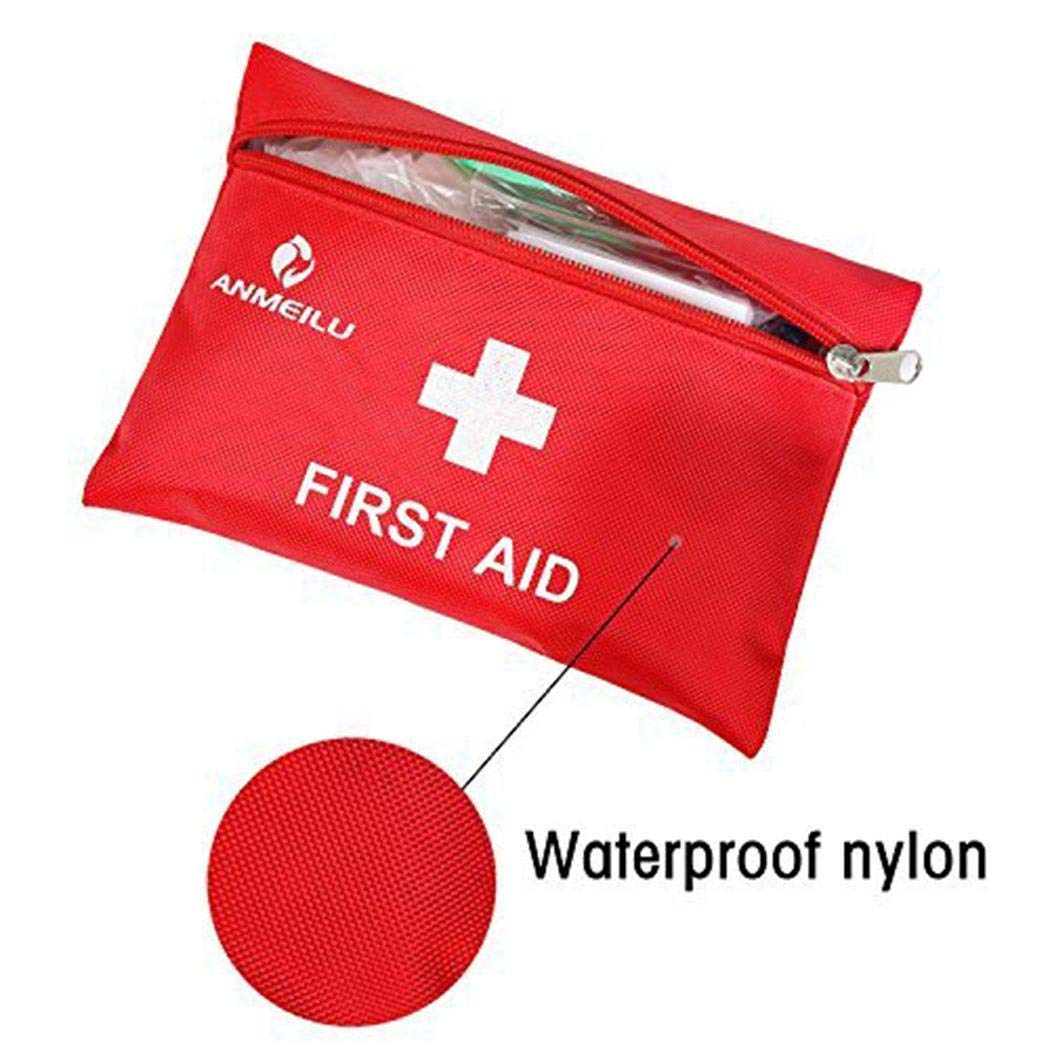 Alisena 12pcs/Set First Aid Kit, Convenient Survival Medical Kit Outdoor Emergency Bag Durable Waterproof Compact Response Trauma Bag for Home Car School Sports Travel Outdoor Hiking Camping