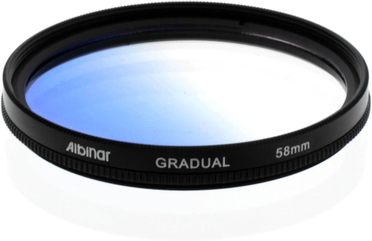 Albinar 58mm Blue Graduated Gradual Color Filter