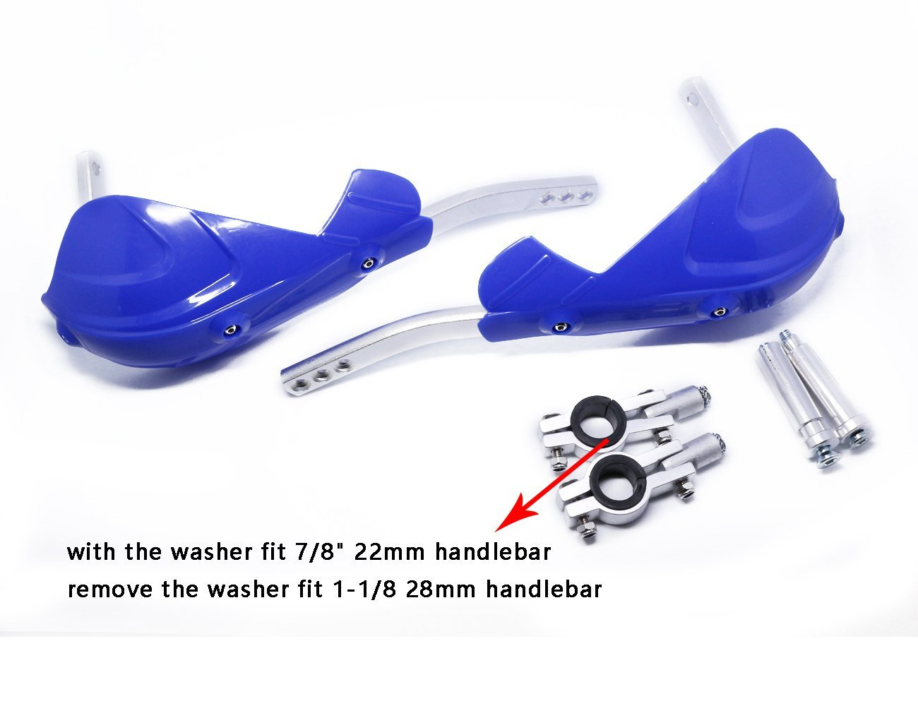 Aluminum Hand Guard Handguard Brush Bar Protector for Kawasaki KX125 KX250 KX250F KX450F Green
