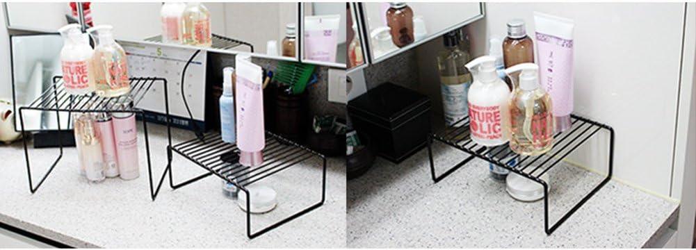 Kem kitchenmom] cocina apilable rectangular estante organizador ...