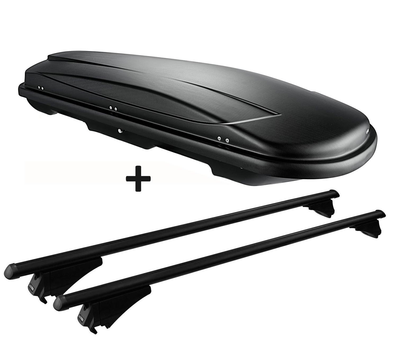 mit geschlossener Dachreling Dachträger Alu schwarz Für BMW X1 F48 15