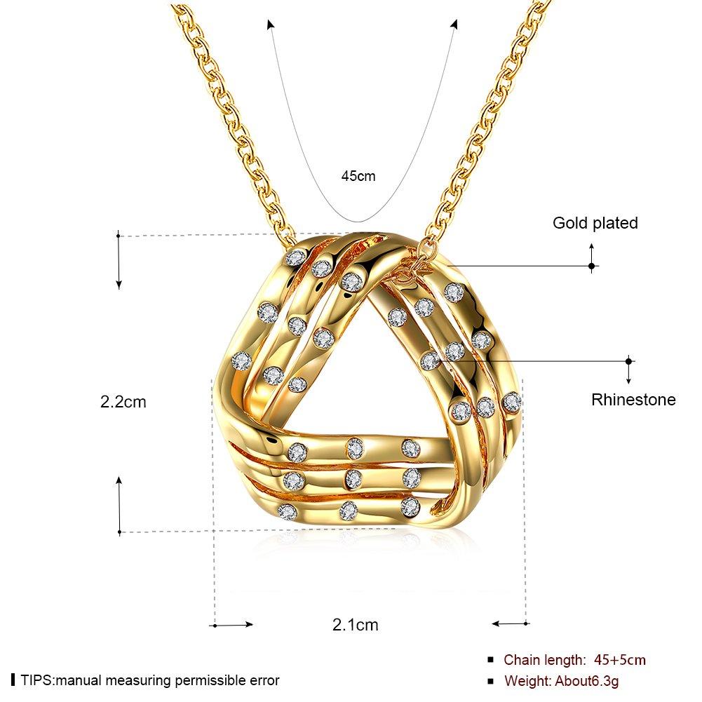 LQinuan Elegant-Design Pendants Gold Plated Necklaces Crystal Jewelry Zirconia Gemstones Chain for Women Girls