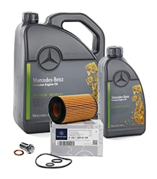 Mercedes-Benz Aceite Original 5W30 MB 229.51 6 Liter + Filtro Aceite ...
