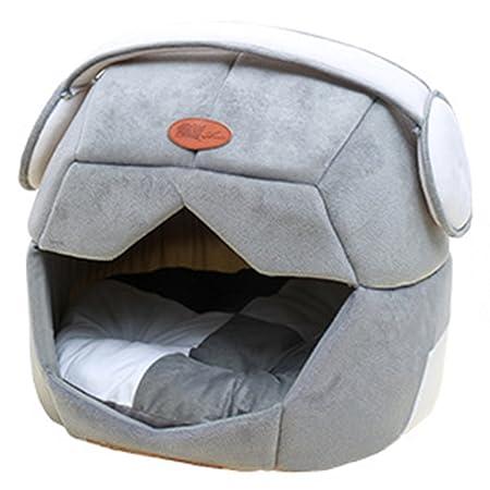 2 En 1 Casa De Mascotas Y Sofá Muy Acogedor Cama De La Casa De La Cueva Perro Gato Gatito Gris Claro S: Amazon.es: Productos para mascotas