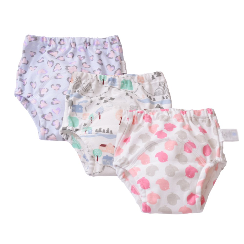 Baby Girls' Toddler Training Pants Washable 3 Pack Kids Potty Nappy 2t 3t Children Gonghao Textile Co. Ltd SDTP3-G002