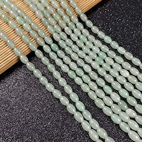 Piedra Natural Forma Ovalada Ágatas con Cuentas De Cuarzo Cuentas Espaciadoras Sueltas para Hacer Joyas DIY Pulsera Collar Accesorios Tamaño 6X9Mm
