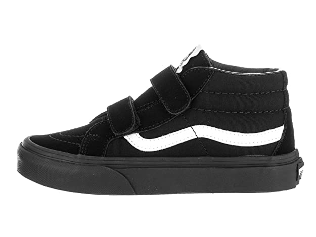 788fda30c1ffe2 Vans Kids Sk8-Mid Reissue V Canvas   Suede Black Skate Shoe 2.5 Kids US   Amazon.co.uk  Books