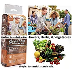 Good Dirt Potting Mix and Soil Conditioner - Rich Gardening Soil For Growing Herbs, Vegetables, Succulents, Flowers, Strawberries and Much More (Potting Mix, 30 QT)
