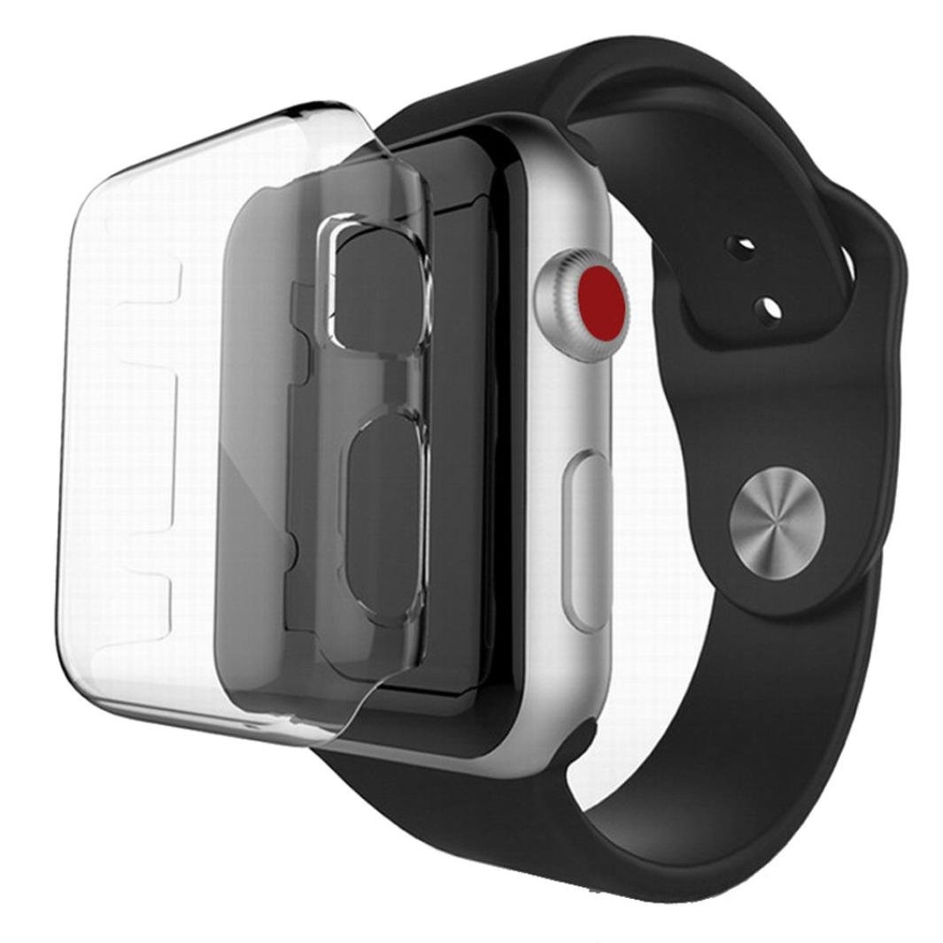GBSELL Ultra-Slim Clear PC Hard Protective Case Cover For Apple Watch Series 3 42mm (42mm)