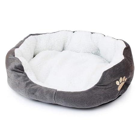 Bomien redonda o forma ovalada hoyuelo forro polar Nesting perro Cueva Cama Mascota Gato Cama para