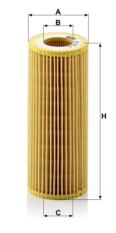 Set de filtro de aceite con junta MANN-FILTER Original Filtro de Aceite HU 721//4 X juego de juntas Para autom/óviles