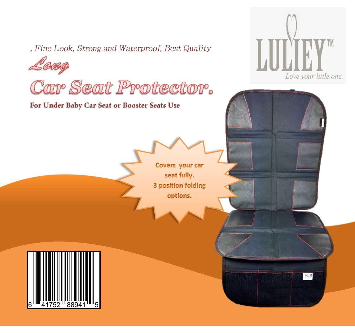 PREMIUM OXFORD Luxury Car Seat Protector - Durable 600D OXFORD Material, Black Leather by Luliey (Image #2)