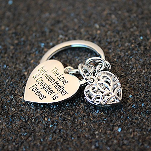 Mother's Day Gift Love Between Mother Daughter Is Forever Double Heart Key Chain Ring for Family Women Photo #7
