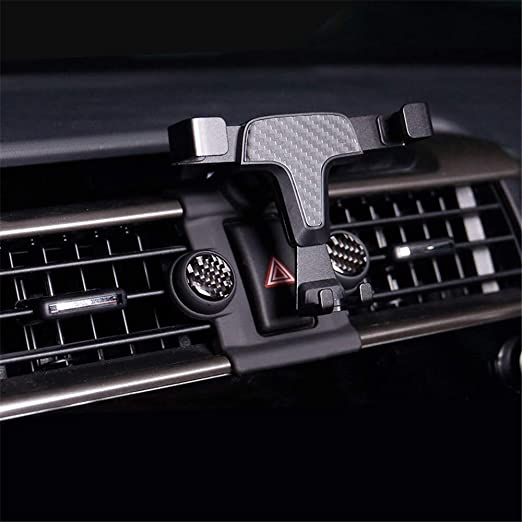 YUZHONGTIAN Car Accessories ABS Carbon Fiber Style Upper Air Vent Cover Trim for Mitsubishi Eclipse Cross 2018 2019