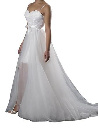 a009567f4b flowerry Women Ivory Detahable Wedding Train Dress Cover Long Tutu Tulle  Dress Overskirt XS