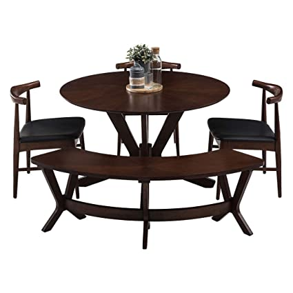 huge selection of 193c5 08894 Durian Paltrow Five Seater Dining Table Set (Walnut, Matte ...