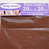 5x Extra Large 20cm X 20cm Square Self Adhesive Felt Floor Protector Pads by Dotty Deals