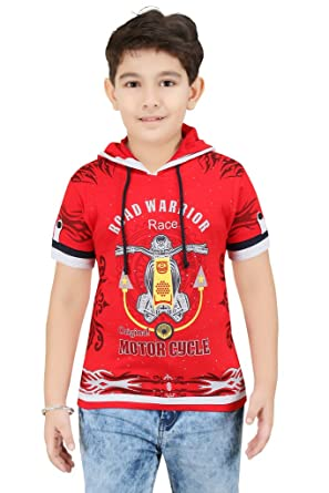 msp colour kids boys half sleeves t shirts with hood - Pictures To Colour For Boys
