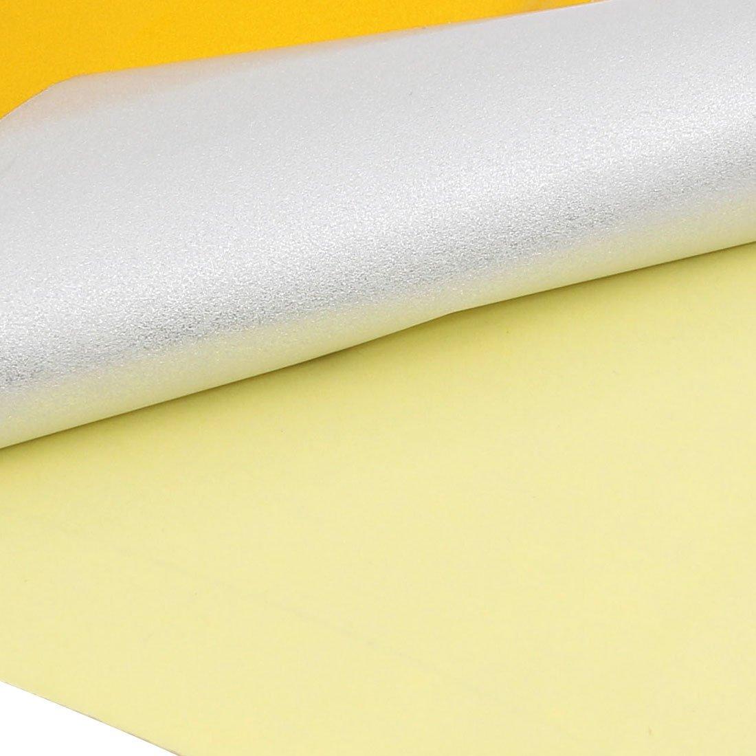 20 cm de ancho sourcing map Cinta Adhesiva de Una sola Cara Reflectante de Advertencia amarillo 10M de longitud