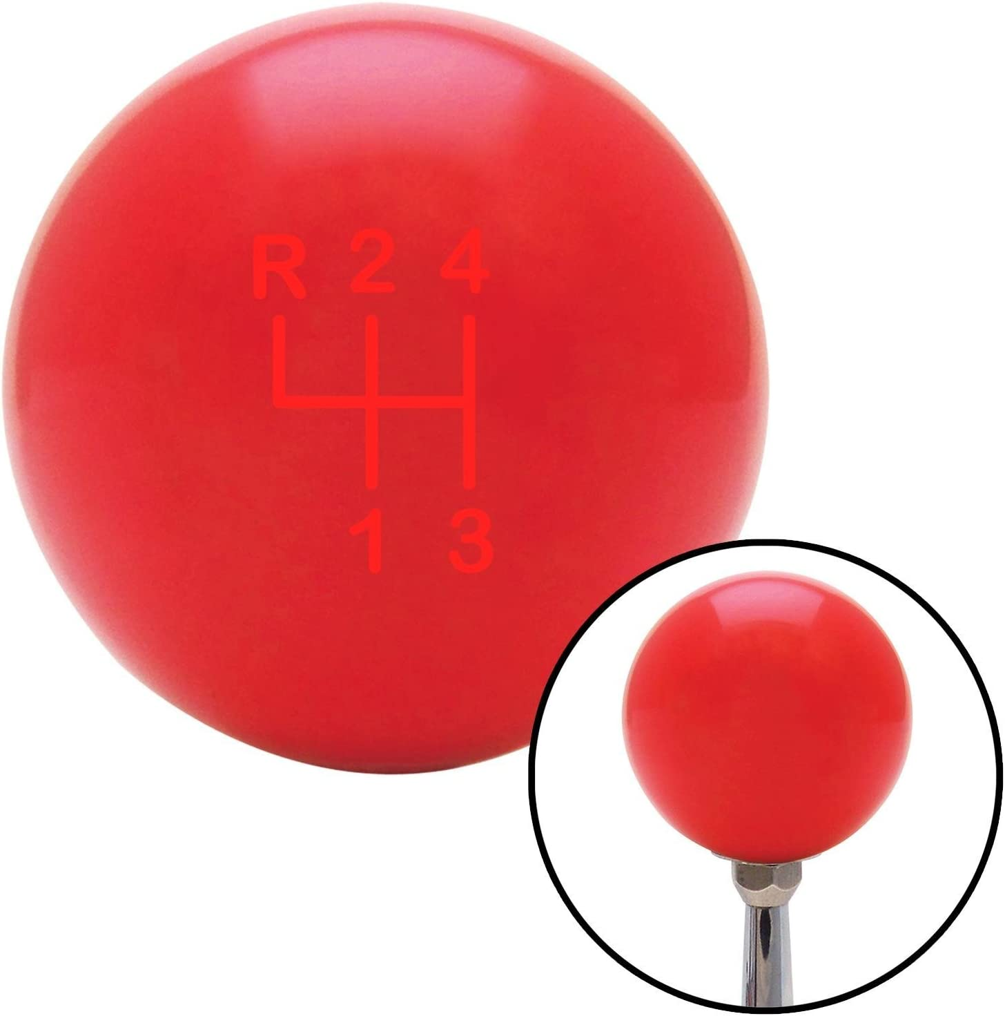 Red Shift Pattern 8n American Shifter 100461 Red Shift Knob with M16 x 1.5 Insert