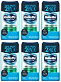Gillette Clear Gel Antiperspirant and Deodorant, Wild Rain, 2 Count (Pack of 6)