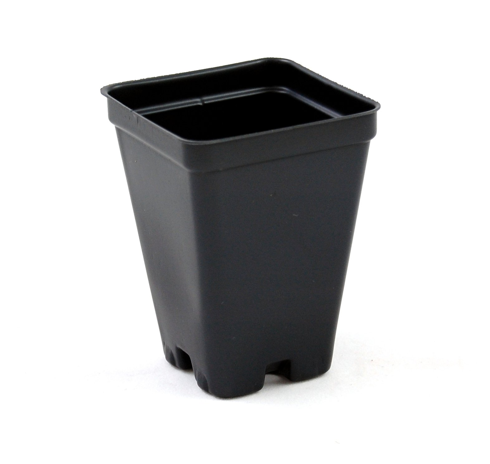 2.5 inch Square Greenhouse Pots - Black - Plastic - Deep - Case of 800 by Growers Solution