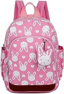 IhDFR Shoulder Children's Backpack 1-3-4-5-6 Years Old Children Anti-Lost Belt Chest Buckle Kindergarten Student Bag (Color : A)