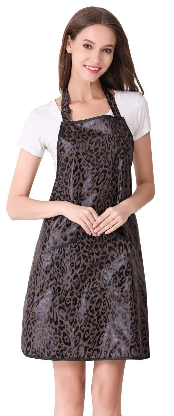 Hair Stylist Apron for Salon Hairdresser, Barber Haircut Styling Apron With Pockets-Leopard Print by PERFEHAIR