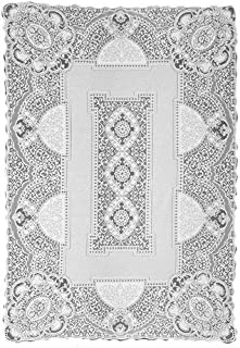 product image for Heritage Lace Canterbury Classic 70-Inch by 108-Inch Rectangle Tablecloth, Ecru